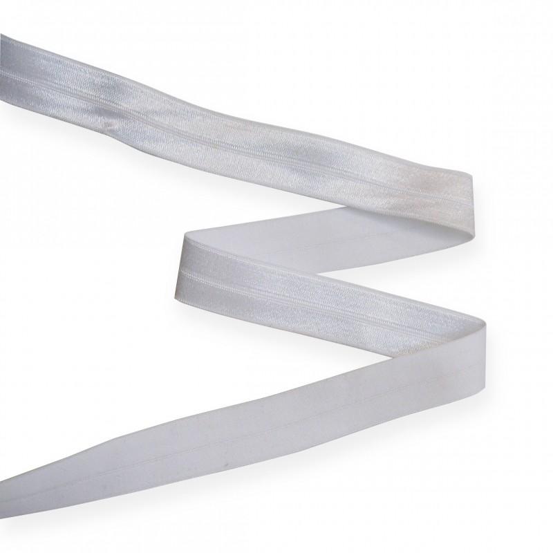 Biais élastique 19 mm BLANC
