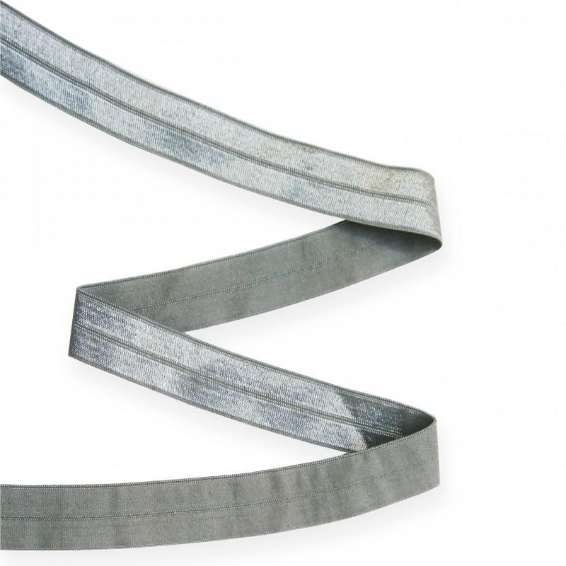 Biais élastique 19mm GRIS ARGENT