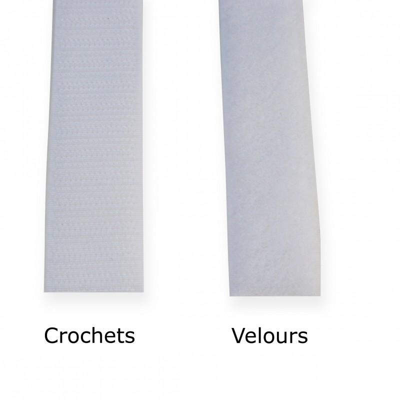 Scratch blanc VELCRO 25 mm