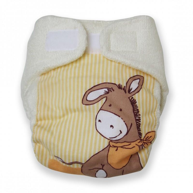 Couche lavable design 4 à 8 kg Ane jaune D