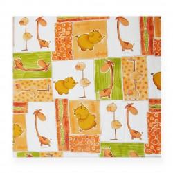 Coton imprimé girafe 70 x 50 cm