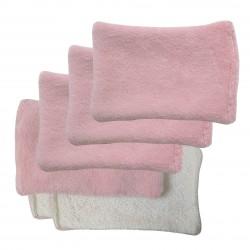 Lingettes lavables rose