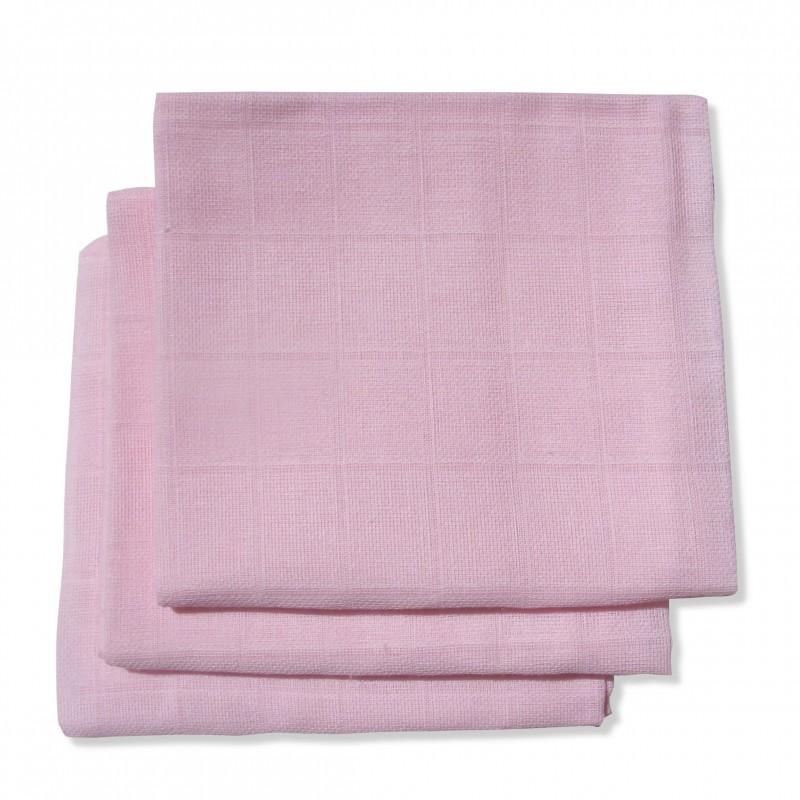 Langes coton rose par 3