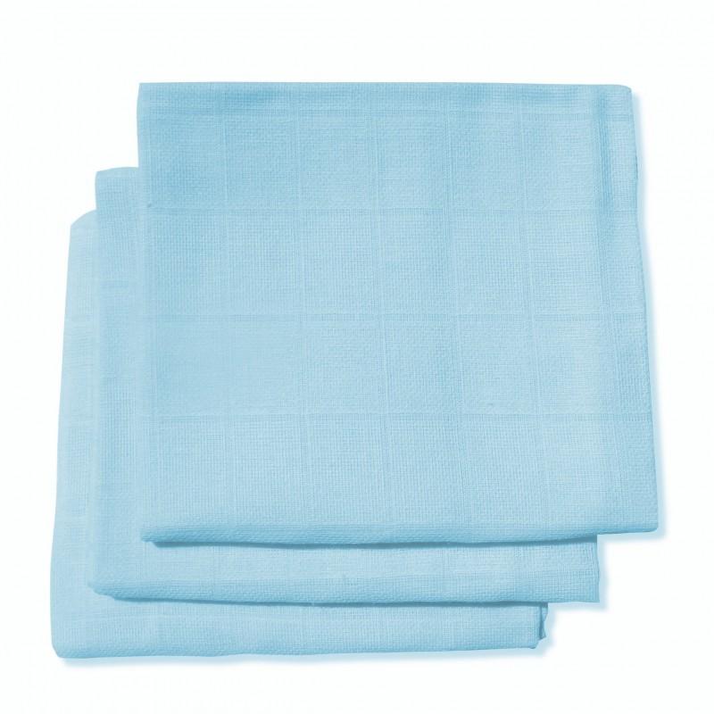 Langes coton bleu par 3