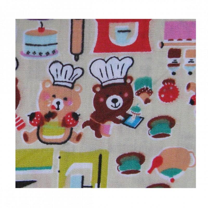 Coton imprimé cuisine 70 x 50 cm Zoom