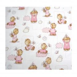 Coton imprimé bébé rose 70 x 50 cm 1