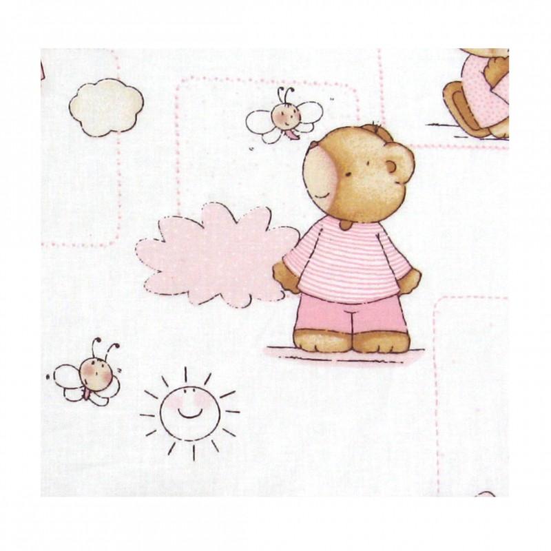 Coton imprimé bébé rose 70 x 50 cm zoom