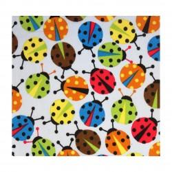 Coton imprimé coccinelle 70 x 50 cm