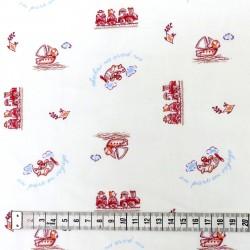 Coton imprimé voyage B 70 x 50 cm