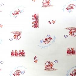 Coton imprimé voyage A 70 x 50 cm