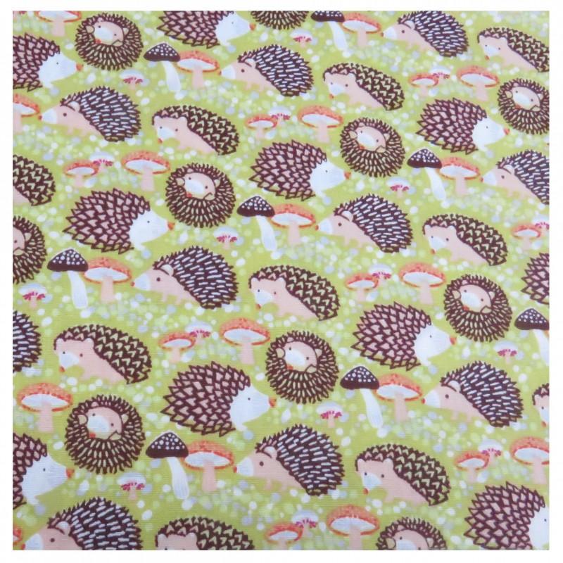 Coton imprimé hérisson 70 x 50 cm