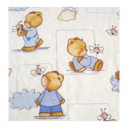 Coton imprimé bébé bleu 70 x 50 cm