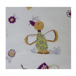 Coton imprimé poule 70 x 50 cm