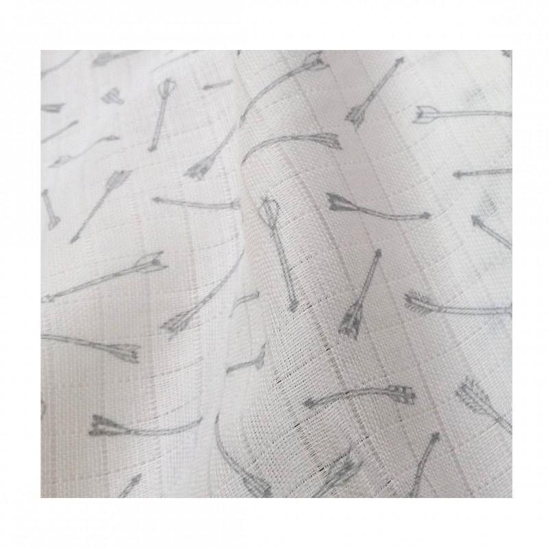 Lange bio flêche grise 50x150cm