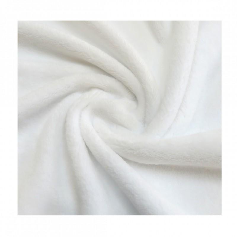 Peluche blanc 50x150 cm