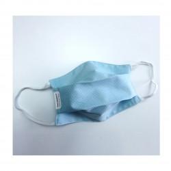 Masque bleu plumetis