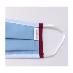 Masque barrière UNS2 bleu bordure bordeaux