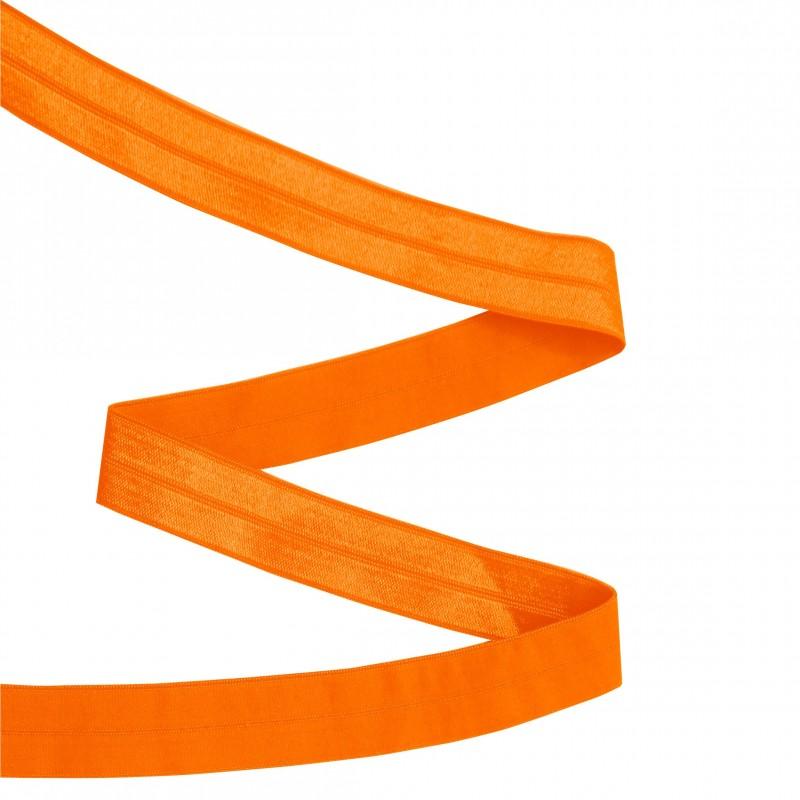 Biais élastique orange