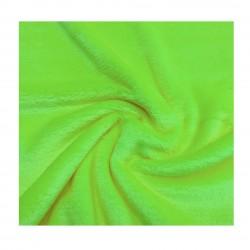Tissu peluche vert citron