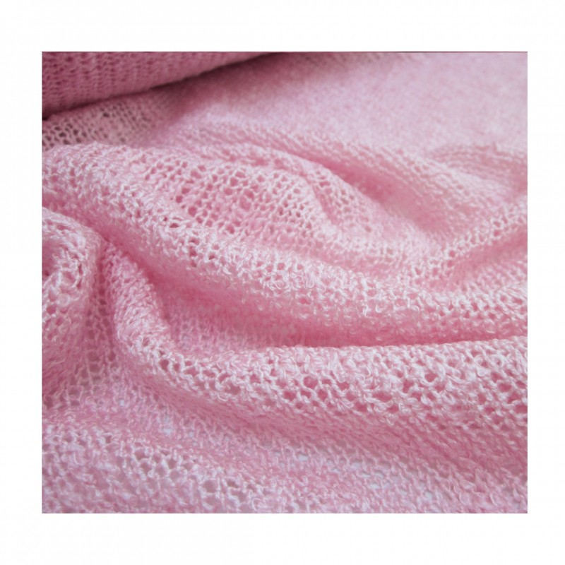 Tricot maille jersey rose