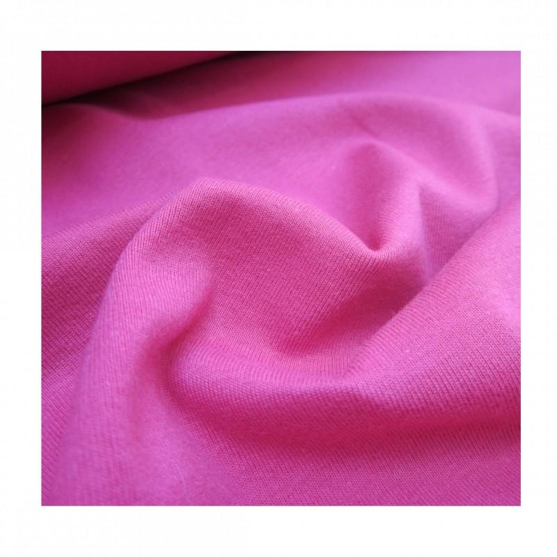 Jersey coton peigné fuchsia