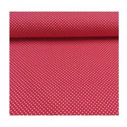 Tissus coton plumetis rouge