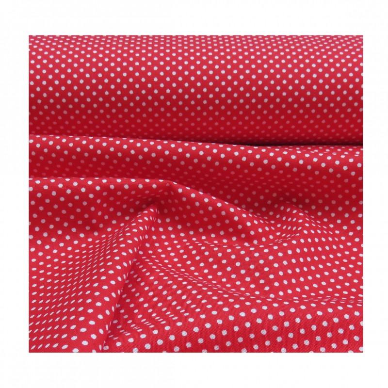 Tissu coton plumetis rouge