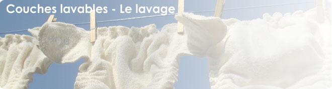 Lavage des  couches lavables